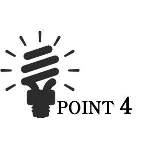 ポイント4、電球の画像